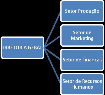 Modelo de organograma horizontal